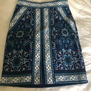 High waisted midi skirt